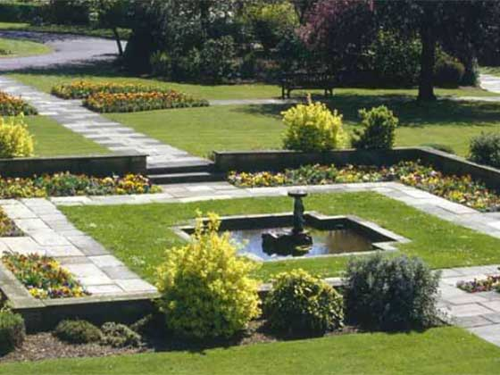 Yorkstone Paving paths at Croydon Crematorium
